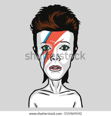 david bowie pop art vector