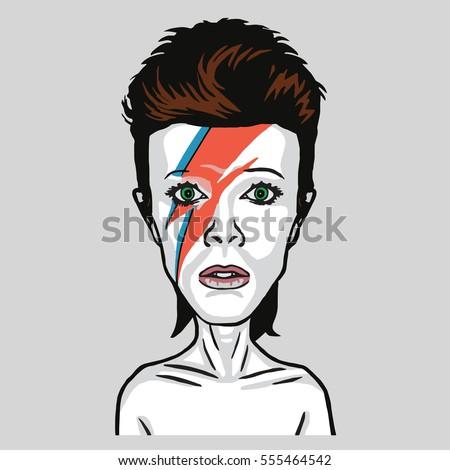 david bowie pop art vector