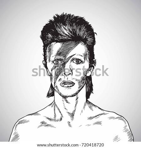david bowie portrait drawing