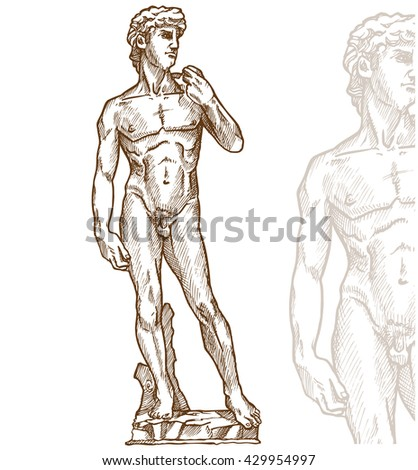 david statue of michelangelo on