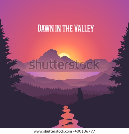 dawn in the valley summer