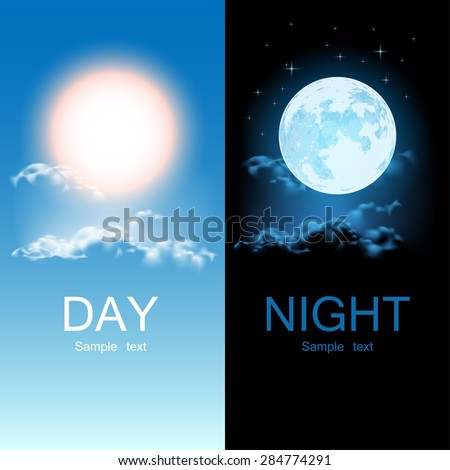 day and night illustration