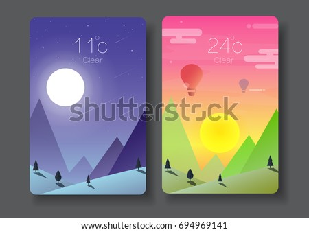day and night landscape nature