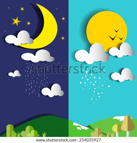 day and night or sun and moon