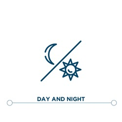 day and night outline vector icon. simple element illustration. day and night outline icon from editable astronomy concept. can be used for web and mobile