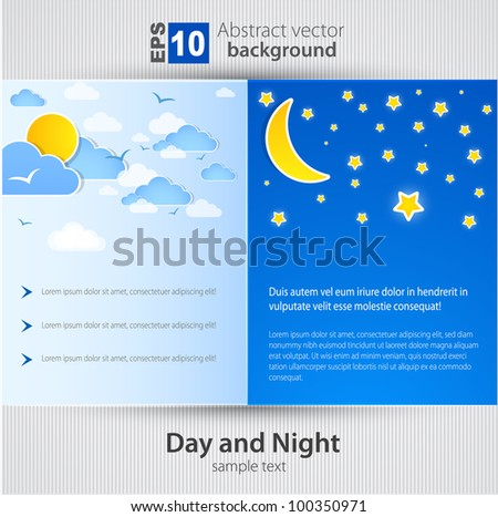 Day and night. Vector Background