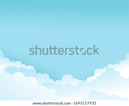 day blue sky with white clouds