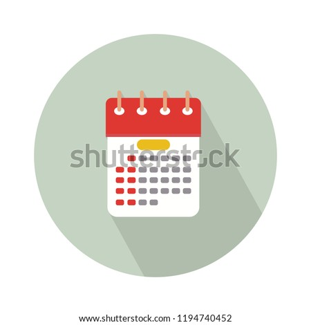 Day calendar icon, vector event calendar isolated, business day. date reminder symbol