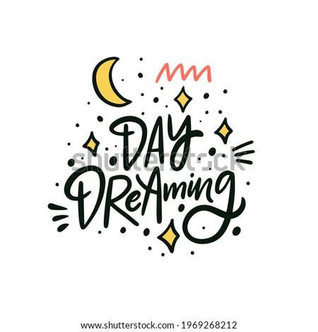 day dreaming hand drawn