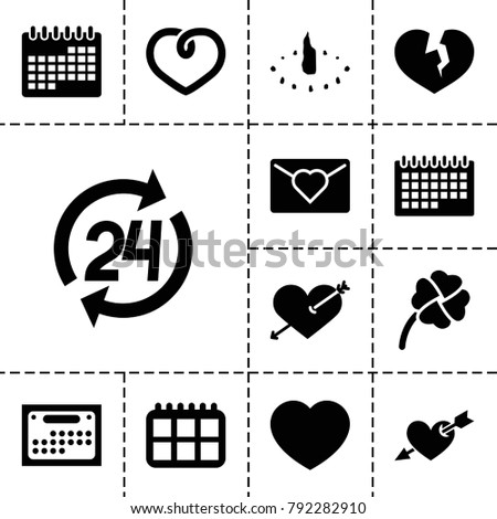 day icons set of 13 editable