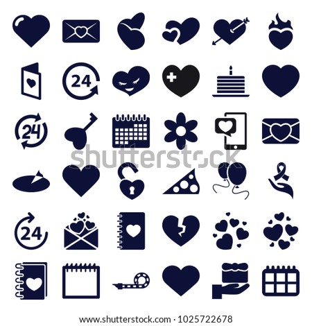 day icons set of 36 editable