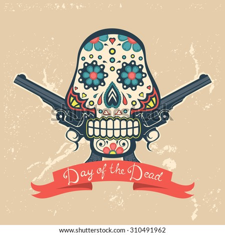 day of the dead card with