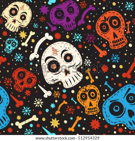 day of the dead colorful