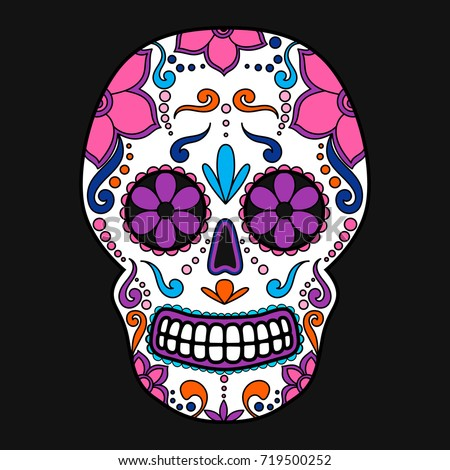 Day Of The Dead Sugar Skull Vector Art Download Free
