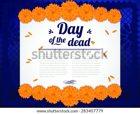 day of the dead   copy space