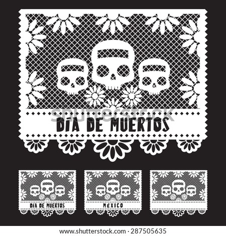 day of the dead   cup out paper