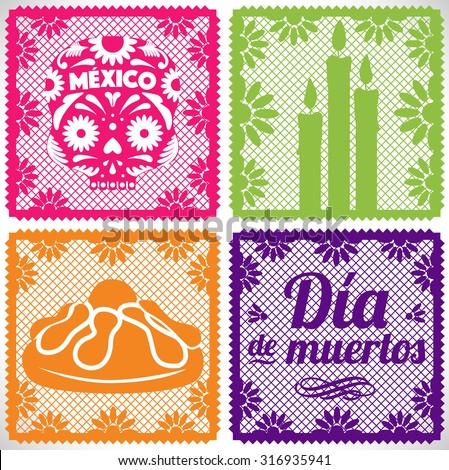 Shutterstock Day Of The Dead - Cut Out Paper Set