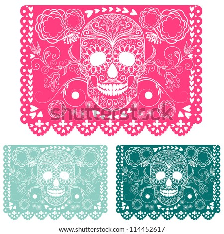 Day of the dead decoration Papel Picado