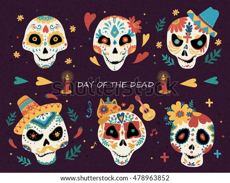 day of the dead poster  mexican
