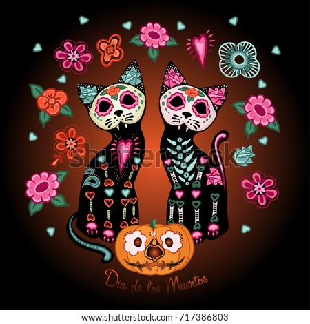 day of the dead poster  two