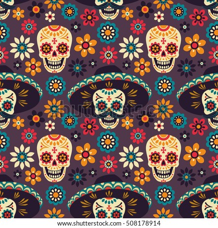 day of the dead seamless