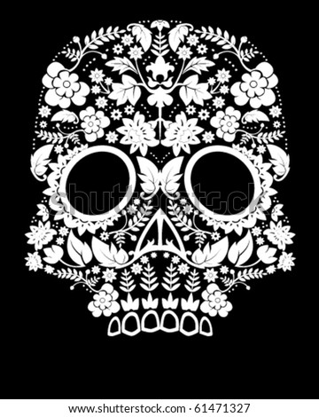day of dead skull. stock vector : Day of the dead