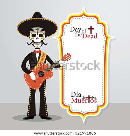 day of the dead skull mariachi