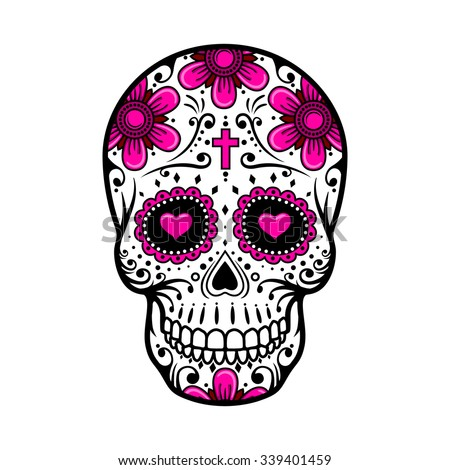 day of the dead skull skull