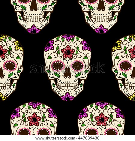 day of the dead skull  vector
