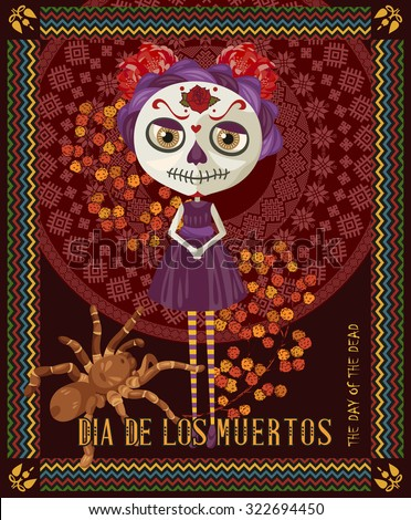 day of the dead skull woman