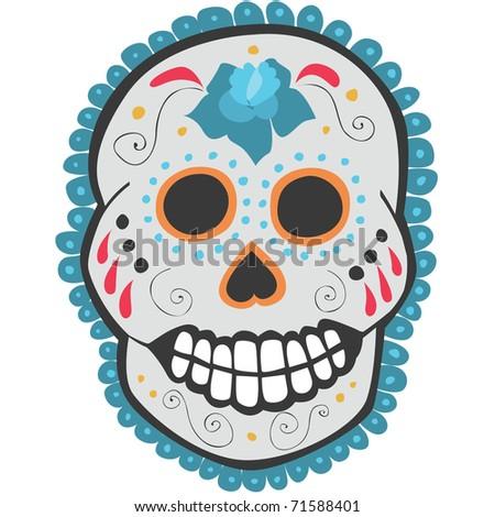 Day of the Dead Sugar Skull Vector illustration of a mexican celebration, day of the dead, sugar skull.