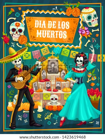 day of the dead vector greeting