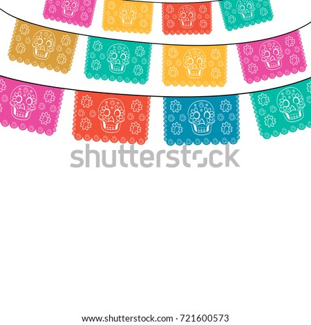 Shutterstock Day Of The Death Cut Out Paper Composition isolated on white background