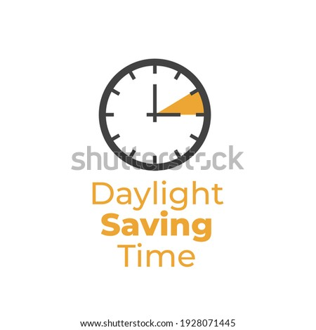 Daylight Saving Time Illustration .Daylight Saving Time. DST. Wall Clock going to winter time. Turn time forward.