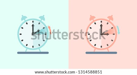 Daylight Saving Time vector 2019, DST  daylight time also summer time