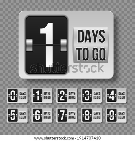Days to do. Countdown left days. Count time sale. Foto d'archivio ©