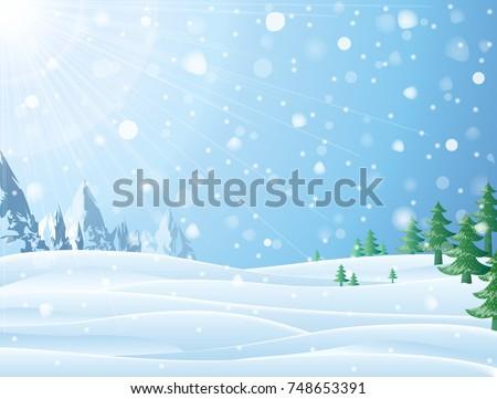 daytime snowy scene with ridge