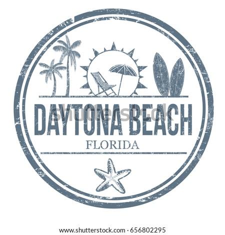 daytona beach sign or stamp on