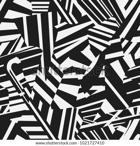 Dazzle camouflage seamless abstract vector pattern