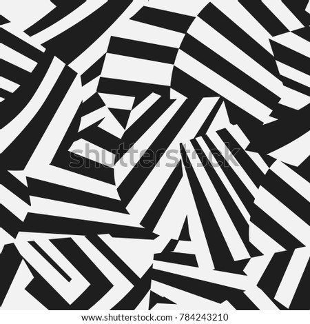 Dazzle camouflage seamless vector pattern