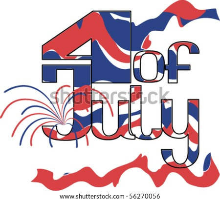 dazzle paint (camouflage)  Fourth of July.  Calligraphy for Independence Day. Fonts were not used. EPS8