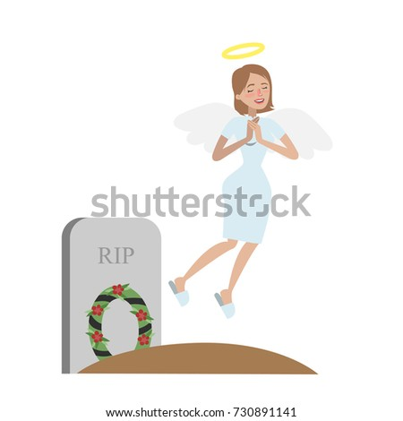 dead angel woman flying to
