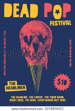 dead pop festival gig poster...