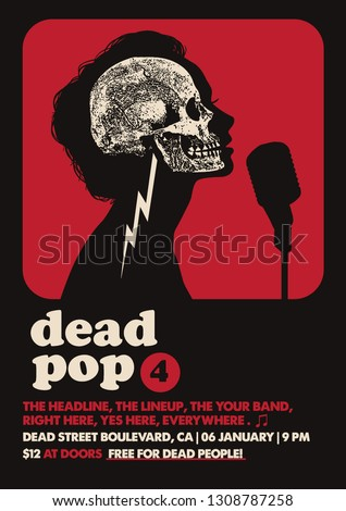 Dead Pop Gig Poster Flyer Template