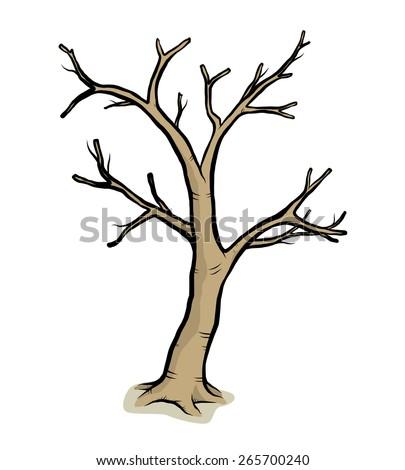 dead tree   cartoon vector and