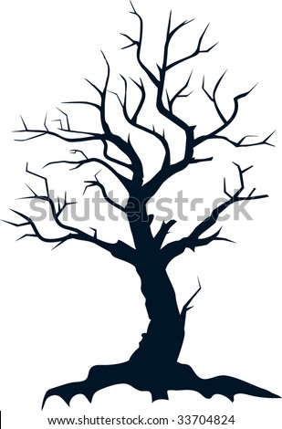 stock vector : Dead tree silhouette