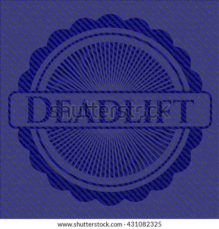Deadlift emblem with jean high quality background