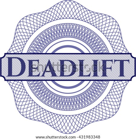 Deadlift written inside abstract linear rosette