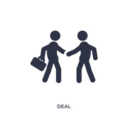 deal isolated icon. Simple element illustration from strategy concept. deal editable logo symbol design on white background. Can be use for web and mobile.