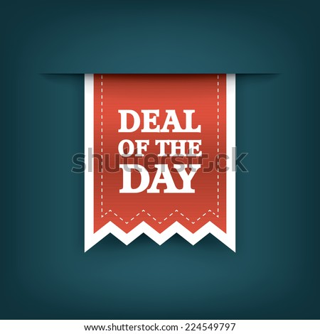 deal of the day vertical ribbon ...